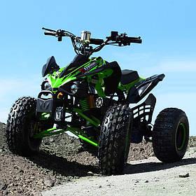 Подростковый квадроцикл (мотор-диференциал 1000W, 4аккум) Profi HB-EATV1000Q2-5(MP3) Зеленый