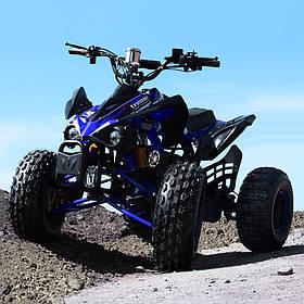 Подростковый квадроцикл (мотор-диференциал 1000W, 4аккум) Profi HB-EATV1000Q2-4(MP3) Синий