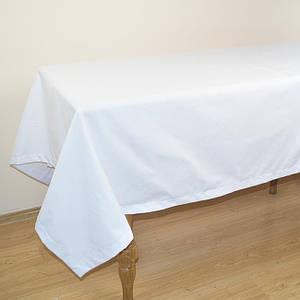 Белая скатерть на стол