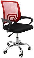Офисное кресло компьютерное до 120 кг для детей подростков и взрослых с вентилируемой спинкой красное