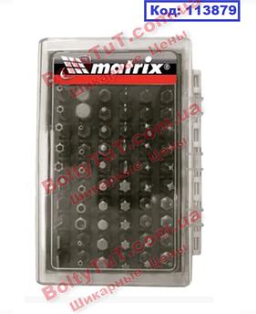 Набор бит с магнитным держателем, CrV,61шт//MTX (113879)