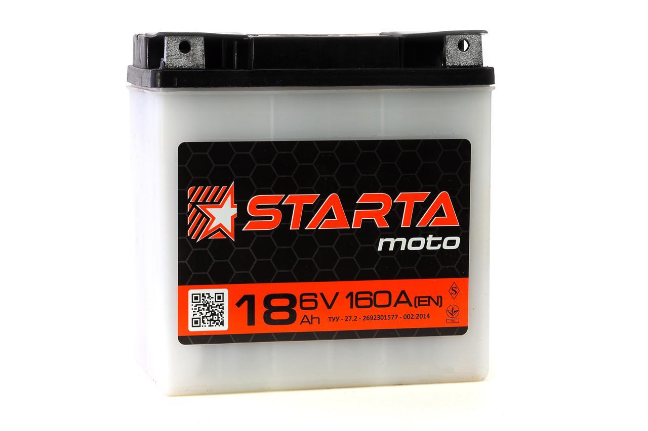 Аккумулятор 6v18a.h. (плоская клема)   STARTA
