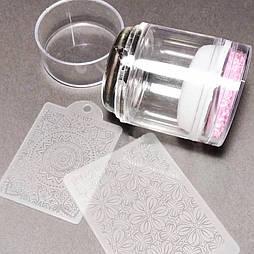 Набор для стемпинга 2 штампа + 2 пластины