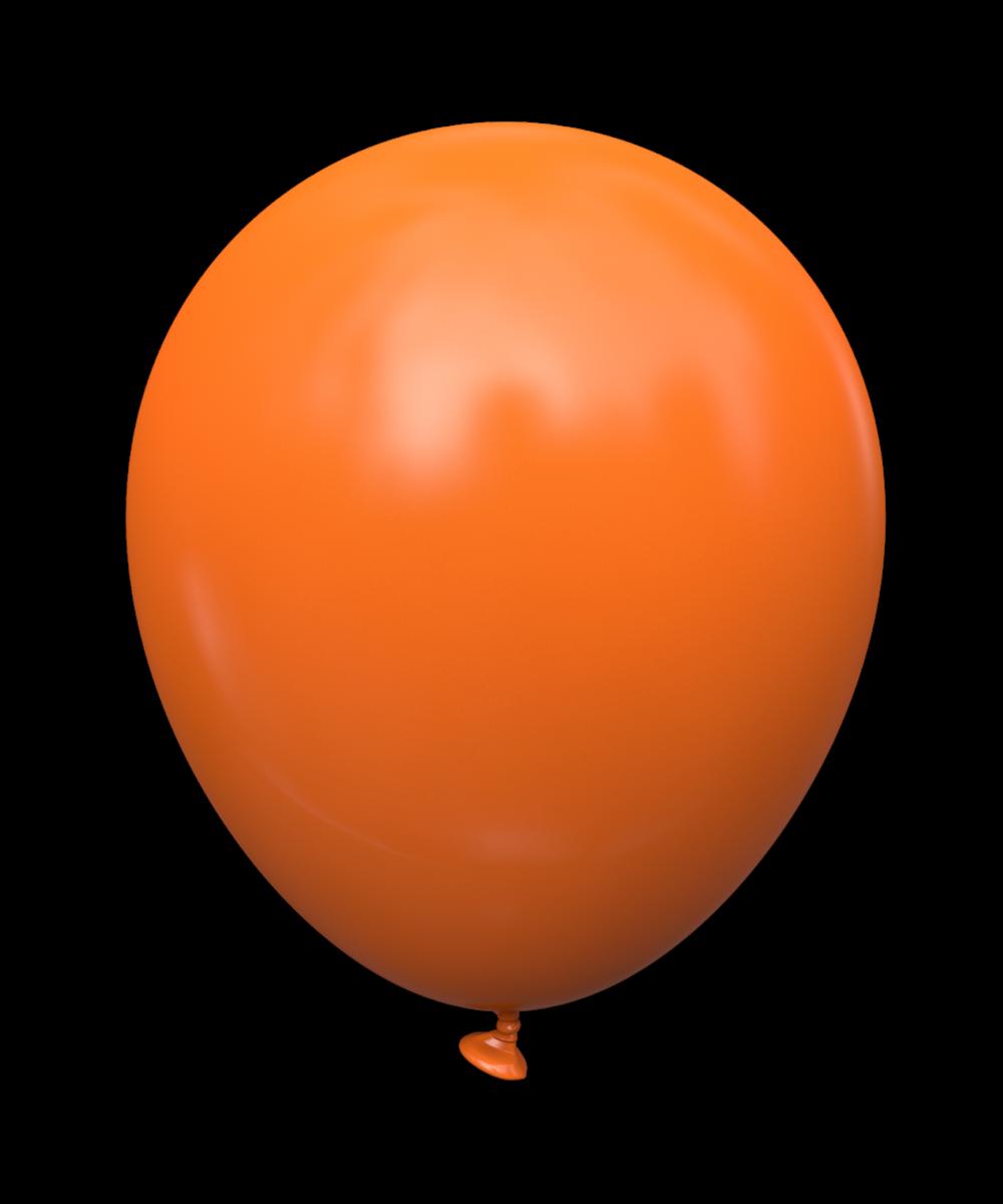 """KL-10"""" (STD) Orange (оранжевый). Шары воздушные латексные без рисунка 10"""" (100 шт)"""
