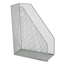 Лоток вертикальний 100х250х320мм, металевий, срібний
