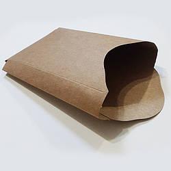 Упаковка для картоплі фрі картон (бура, міді) 135х120 50шт