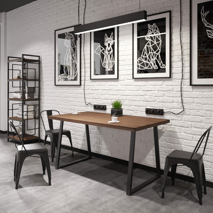 Стол Бинго Оверлайт 80 Металл-Дизайн Лофт