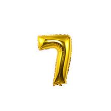 """Кульки повітряні, фольговані, золото, 40"""", цифри, 7, Імп."""