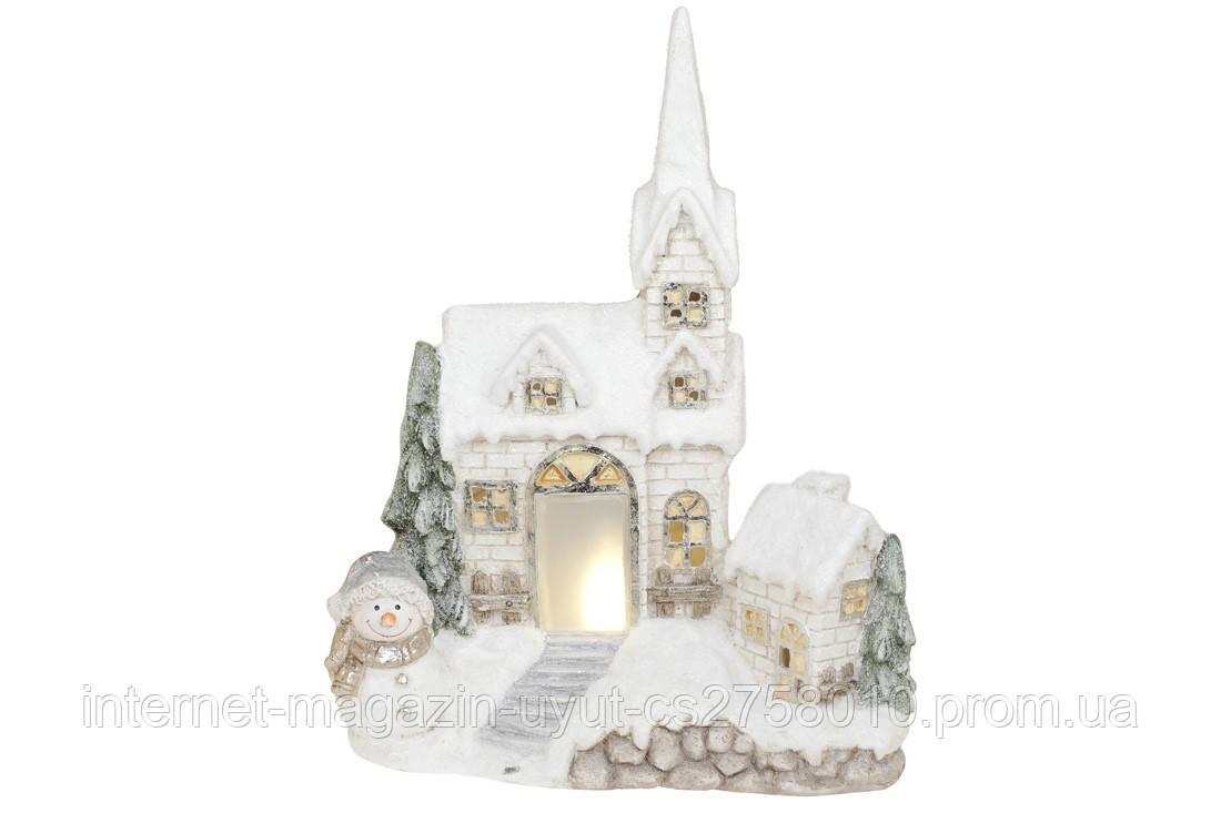 "Декор керамический ""Старый замок"" с LED-подсветкой 43х20х54.5см"