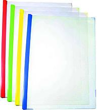 Папка з планкою-затиском Economix 31211, А4, 15 мм (2-95аркушів), асорті