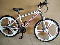 """Велосипед горный New Speed / White Red 3k 26/"""" на литых дисках на рост 150 - 180см"""
