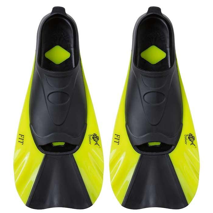 Ласты для бассейна тренировочные короткие Dolvor F368 размер 34-35 желтый