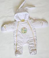 Детский демисезонный комбинезон для новорожденных 68см размер, унисекс для мальчиков и девочек