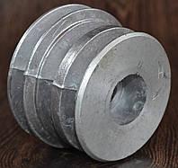Шкив 3-х ручейковый (профиль А) 20мм внутренний; 76мм-наружный ( 168 F ;170-F) (6,5 л.с.-7 л.с.), фото 1