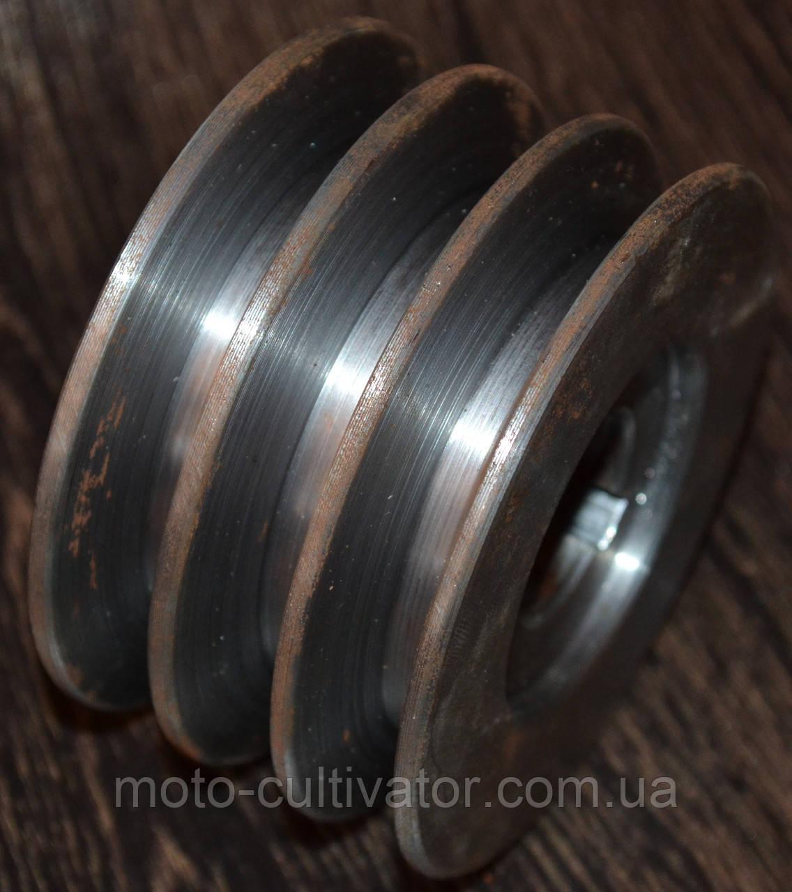 Шкив 3-х ручейковый (профиль А) 25мм внутренний,наружный 85 мм
