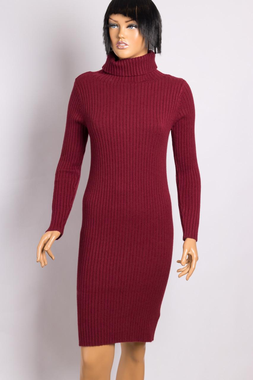 Платье трикотажное женское DOLCE PICCANTE 23378 BORDO