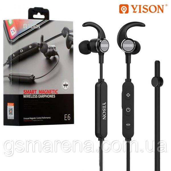 Bluetooth наушники с микрофоном Yison E6 Черный