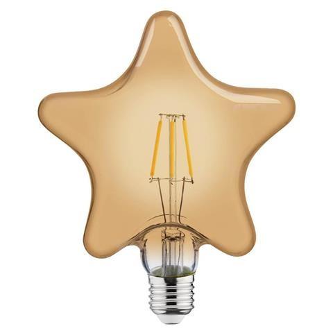 """Лампа винтажная светодиодная (ретро) Horoz Electric """"RUSTIC STAR-6"""" 6W Filament led 2200К E27"""