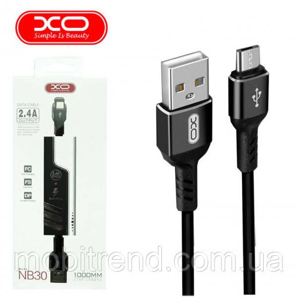 Кабель micro-USB XO NB30 micro-USB 1m Черный