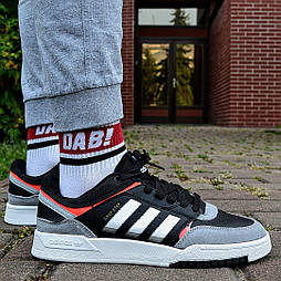 Мужские кроссовки Adidas Drop Sterp Low демисезонные осень весна черные 40-44р. Фото в живую (Реплика ААА+)