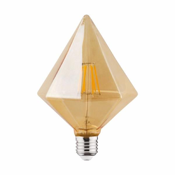 """Лампа винтажная светодиодная (ретро) Horoz Electric """"RUSTIC PYRAMID-6"""" 6W Filament led 2200К E27"""