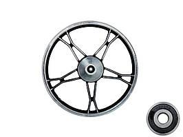 Диск колеса (передний) Delta  (чёрный, литой)