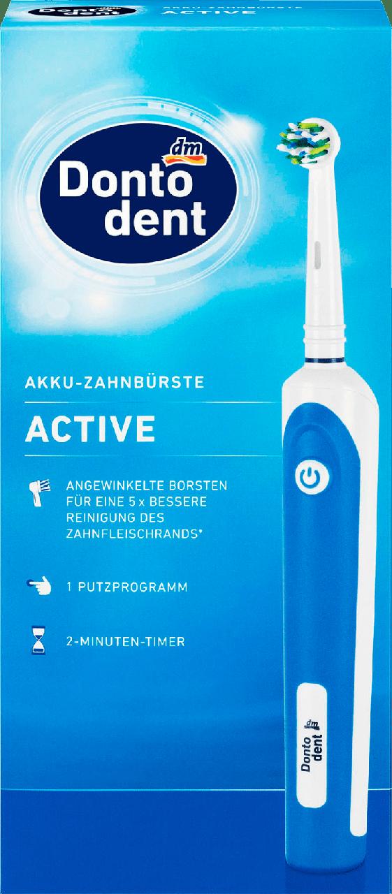 Электрическая зубная щетка Dontodent Akku-Zahnbürste Active, Blau