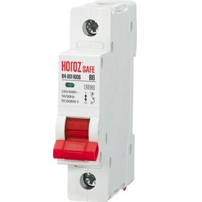 """Автоматический выключатель Horoz Electric """"SAFE"""" 10А 1P В"""