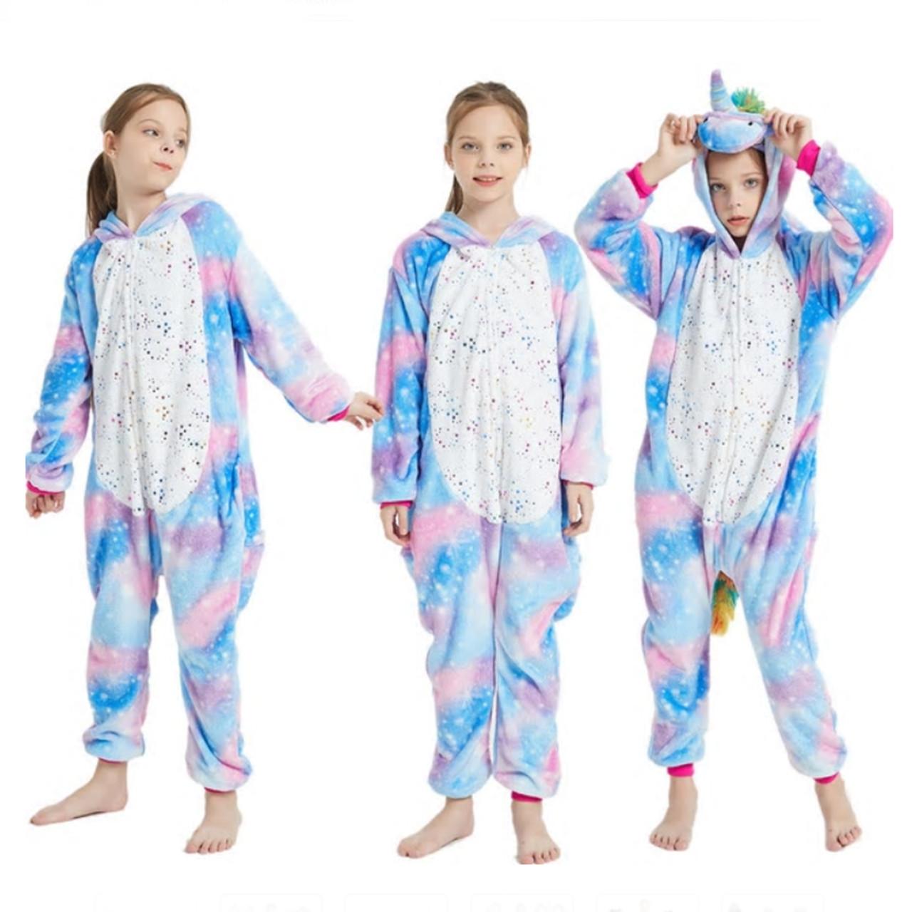 Пижама кигуруми Единорог цельная детская пижама комбинезон кигуруми