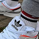 Мужские кроссовки Adidas Drop Step low демисезонные осень весна белые 40-44р. Фото в живую (Реплика ААА+), фото 6