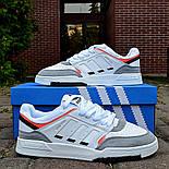 Мужские кроссовки Adidas Drop Step low демисезонные осень весна белые 40-44р. Фото в живую (Реплика ААА+), фото 7