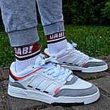 Мужские кроссовки Adidas Drop Step low демисезонные осень весна белые 40-44р. Фото в живую (Реплика ААА+), фото 2