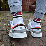Мужские кроссовки Adidas Drop Step low демисезонные осень весна белые 40-44р. Фото в живую (Реплика ААА+), фото 5