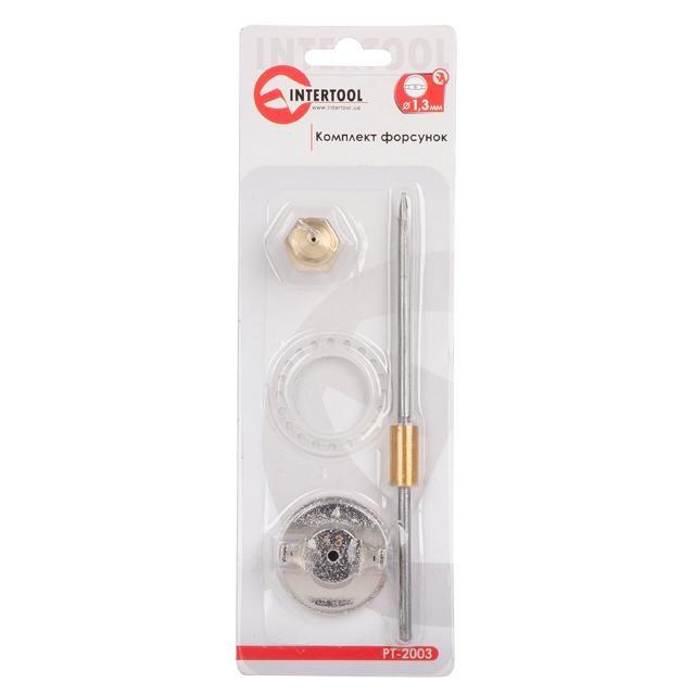 Комплект форсунки 1.3мм для краскопульта  РТ-0204,PT-0205,PT-0210,PT-0211 INTERTOOL PT-2003