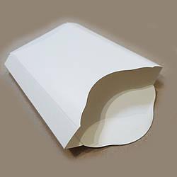 Упаковка для картоплі фрі картон Велика (біла, максі) 150х140 50шт