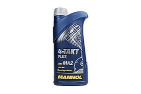 Масло 4T  MANNOL  1л  полусинтетическое Plus JASO MA/MA2 API SL