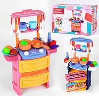 ХИТ! игрушечная кухня,муз,свет,вода (посудка, продукты),детская кухня 768-3/4,кухонька