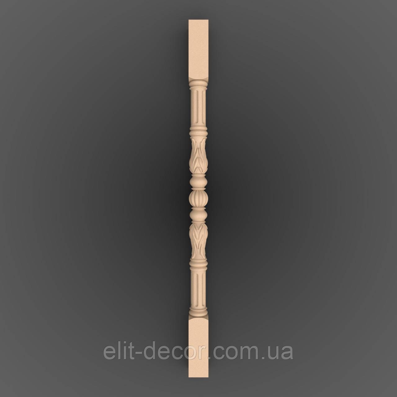 Резная опора. Балясина деревянная. 900x50x50.LB-017