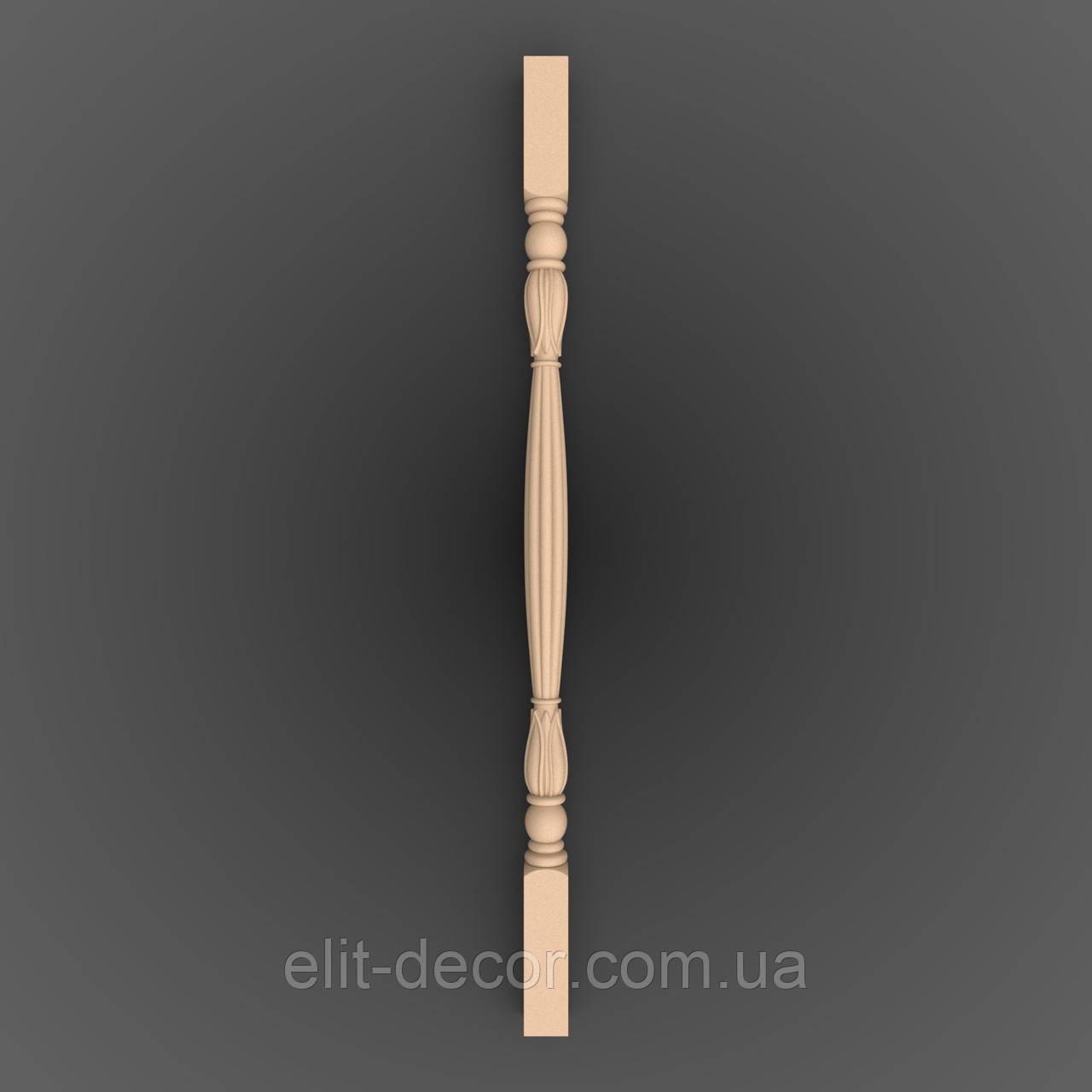 Різьблена опора. Балясина дерев'яна. 900x50x50. LB-018