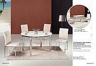 Стол обеденный из стекла  Сандра 1,0м розовый