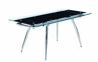 Стол обеденный из стекла Чикаго 110 черный