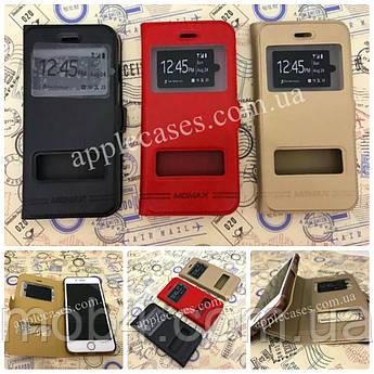 Кожаный чехол книжка Momax для Apple iPhone 6 Plus / 6s Plus (красный)