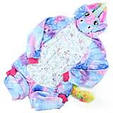 Пижама кигуруми Единорог цельная детская пижама комбинезон кигуруми, фото 2