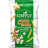 Чипсы Cheetos Simply Crunchy White Cheddar Jalapeno 240.9g, фото 1