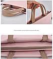 Жіноча сумка портфель для документів - рожевий, фото 4