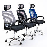 """Кресло на колесиках """"Бласт серый"""". Разные цвета., фото 2"""