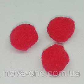 Помпони імітація хутра для творчості 15 мм Червоний Упаковка 100 штук