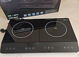 Индукционная плита DOMOTEC MS-5872 на 2 конфорки по 2000 Вт, цвет черный, фото 2