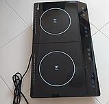 Индукционная плита DOMOTEC MS-5872 на 2 конфорки по 2000 Вт, цвет черный, фото 3