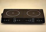 Индукционная плита DOMOTEC MS-5872 на 2 конфорки по 2000 Вт, цвет черный, фото 4